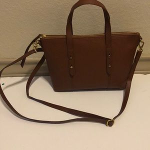 Fossil Brown Crossbody Tote Bag NWT